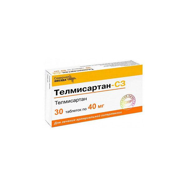 Телмисартан-сз таб. 40 мг 30 шт.