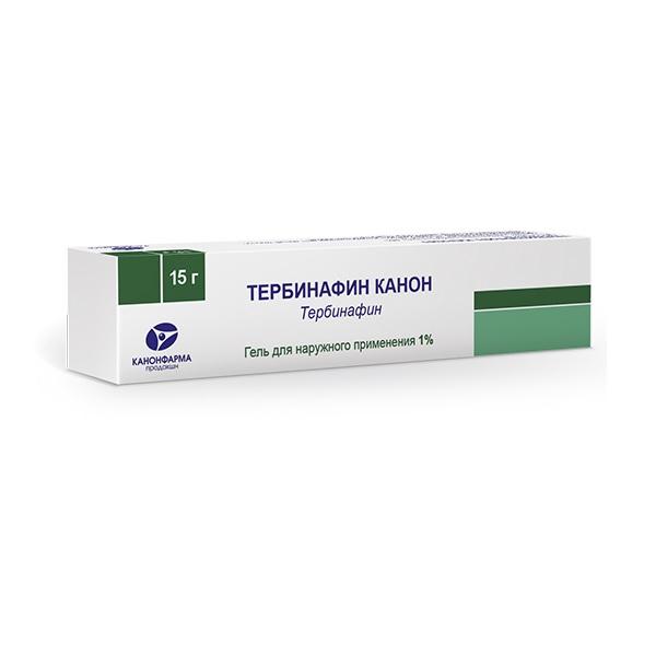 Тербинафин канон гель д/наруж. прим. 1% туба 15г