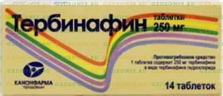 Тербинафин таб. 250мг n14