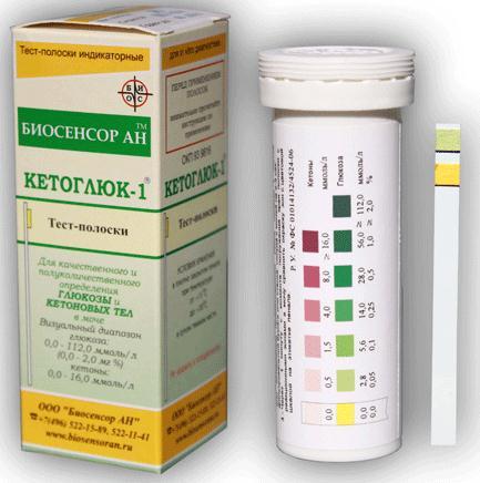 Тест-полоски кетоглюк-1 n50