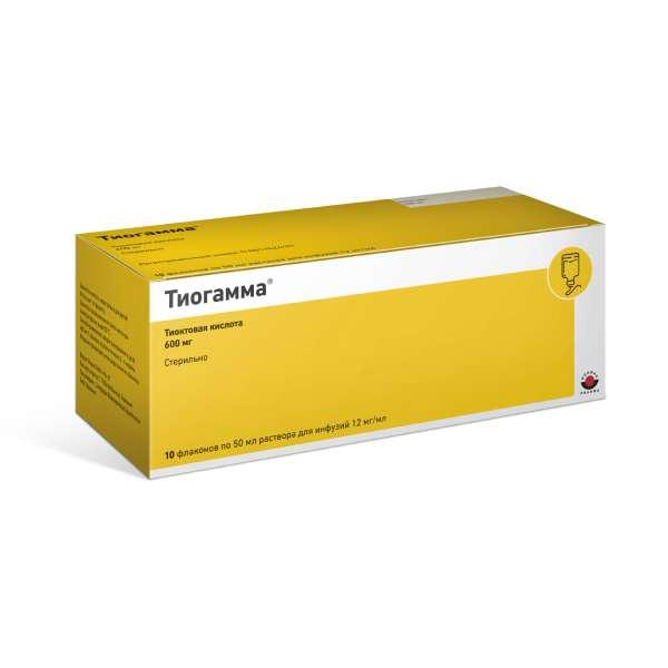 Тиогамма р-р д/инф. 1,2% 50мл n10
