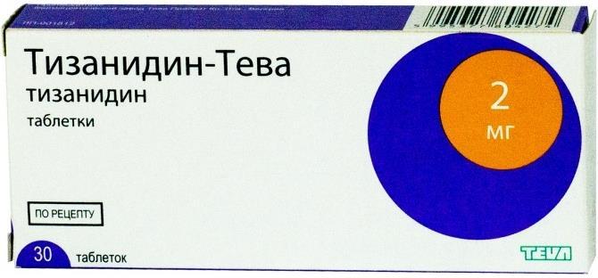 Тизанидин-тева таб. 2мг n30