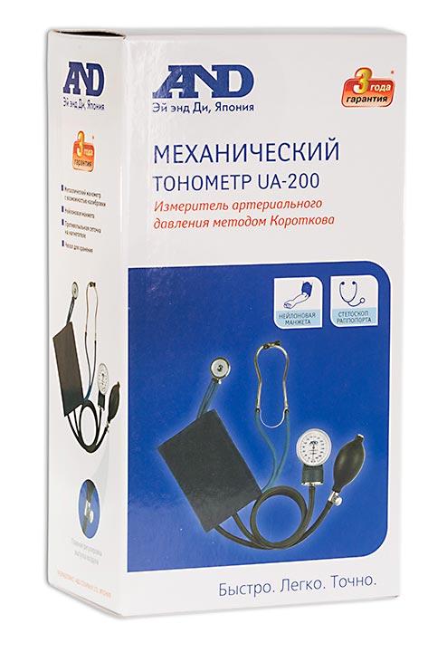 Тонометр механический ua-200 профессиональный с фонендоскопом раппапорта