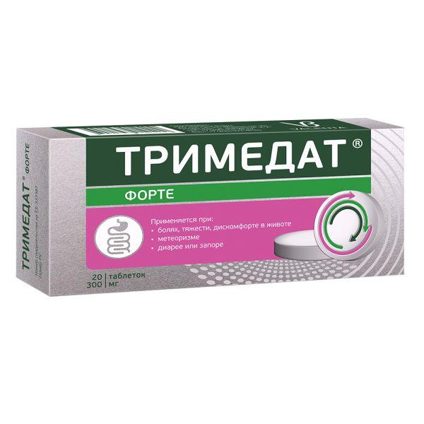 Тримедат форте таб. с пролонг. высвобождением п/о плен. 300мг №20