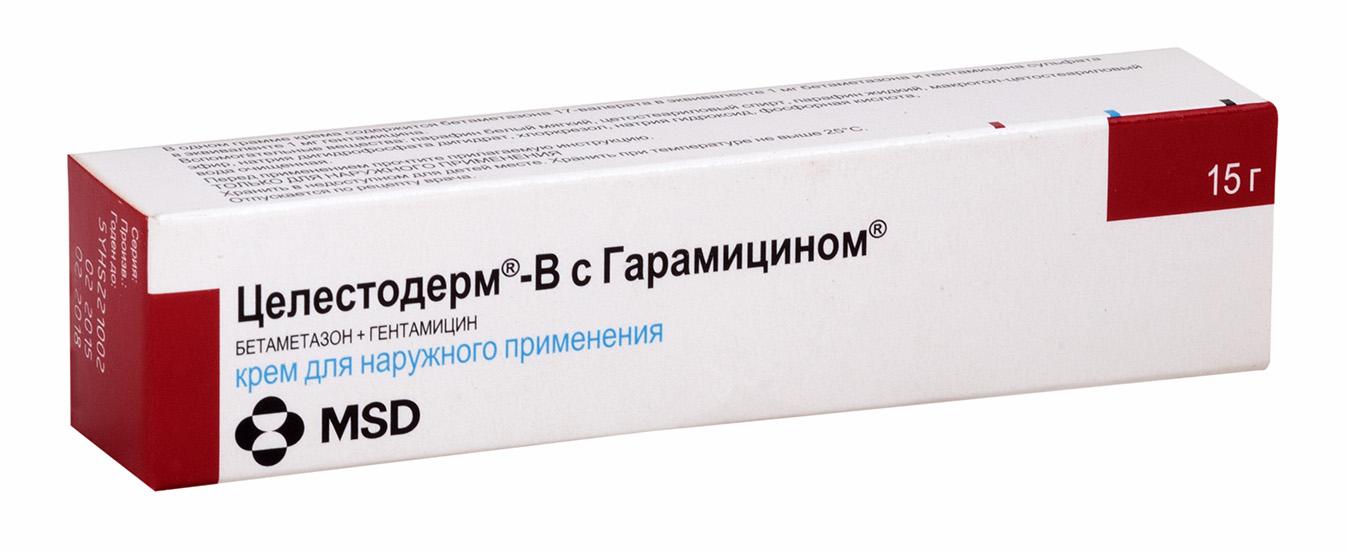 Целестодерм в с гарамицином крем 15г n1