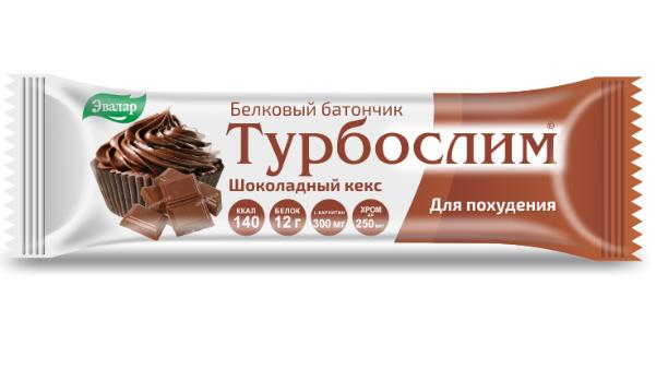 Турбослим батончик белковый для лиц контролирующих массу тела шоколадный кекс 50г (бад)