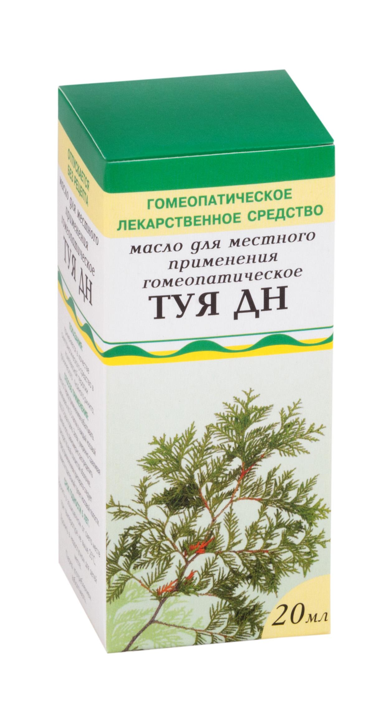 Туя дн масло д/местн. прим. гомеопат. фл. 20 мл №1