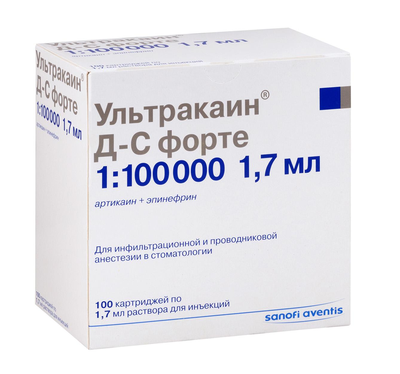 Ультракаин дс форте р-р д/ин. 1,7мл n100 (картридж)