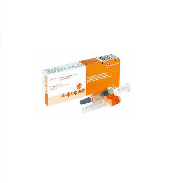 Вакцина инфанрикс гекса сусп. в/м 0,5мл/доза 0,5мл n1