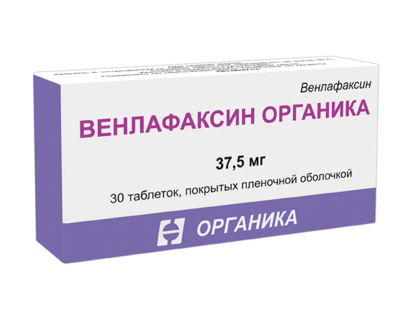 Венлафаксин органика таб. п/о плен. 37,5 мг №30