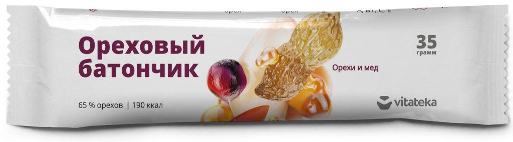 Витатека батончик мюсли орех с медом с витамином с, 35г (бад)
