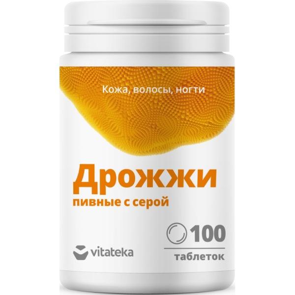 Витатека дрожжи пивные с серой табл.500 мг №100 (бад)