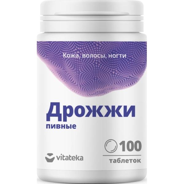 Витатека дрожжи пивные табл.500 мг №100 (бад)