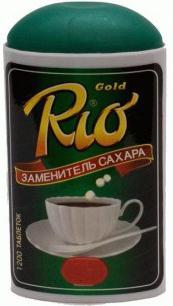 Заменитель сахара рио голд таб. n1200