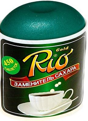 Заменитель сахара рио голд таб. n450