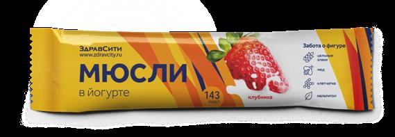 Здравсити мюсли батончик клубничный в йогуртной глазури 30 г (бад)