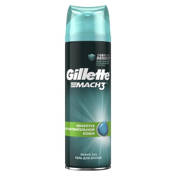 Жиллетт mach3 гель для бритья для чувствительной кожи фл. 200мл