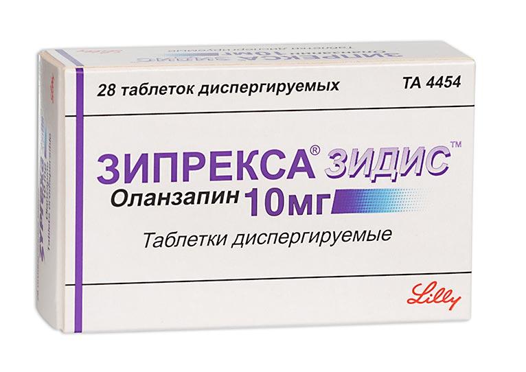 Зипрекса зидис таб. дисперг. 10мг n28