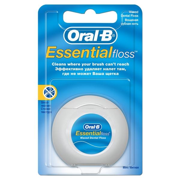 Зубная нить орал би эссеншел флосс вощеная мята 50м (0772)