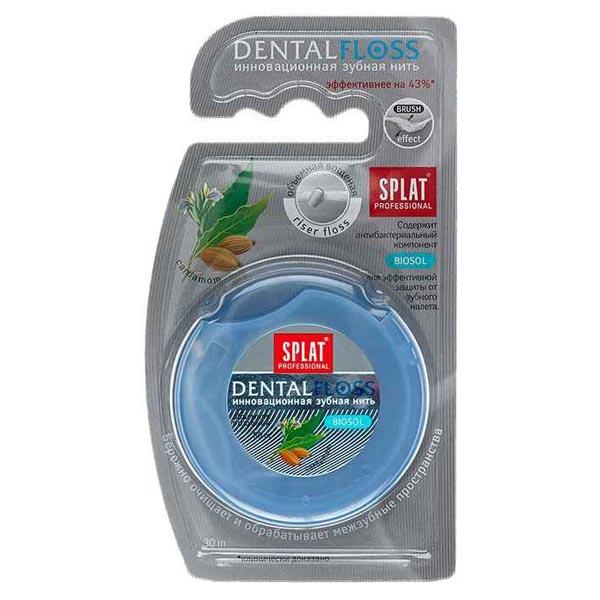 Зубная нить сплат профессионал денталфлосс объемная кардамон 30м