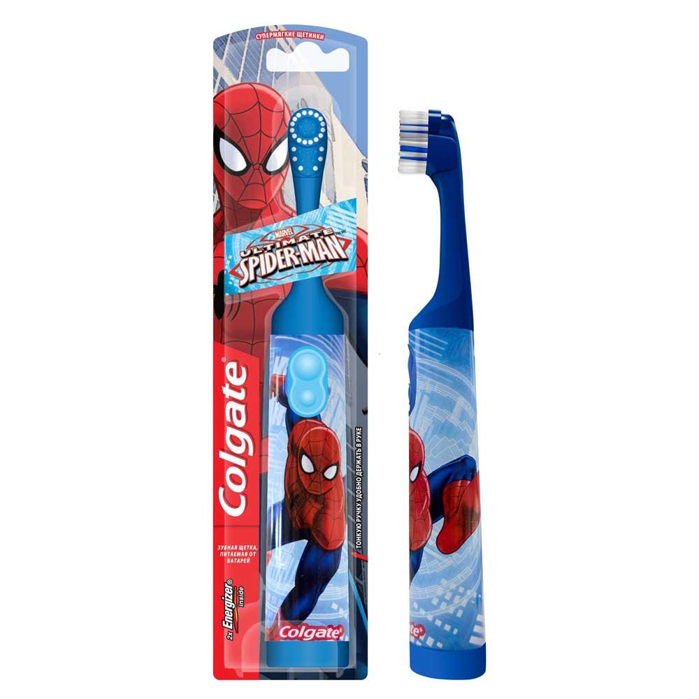 Зубная щетка электрическая детская колгейт спанч боб/барби/спайдермен (fcn 10033)
